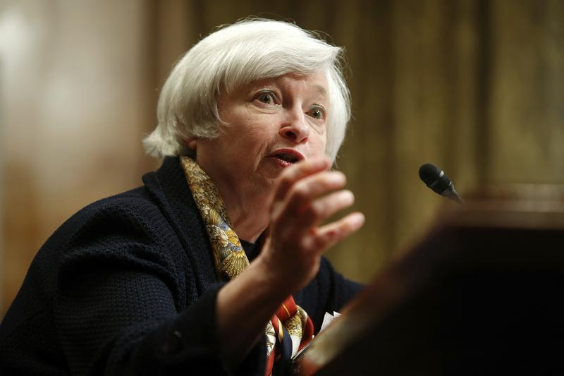 Yellen testifies about the U.S. economy before a Senate Budget Committee hearing on Capitol Hill in Washington