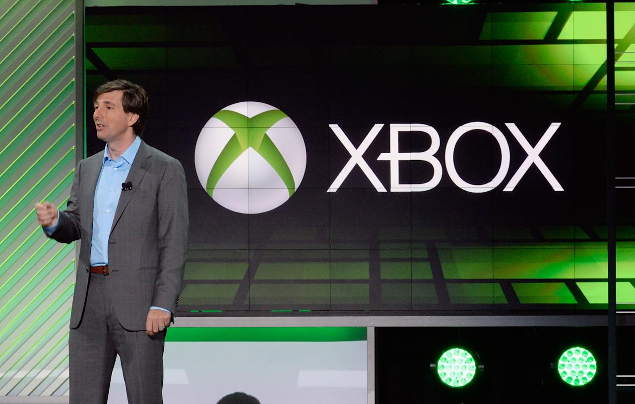 LOS ANGELES, CA - JUNE 10: Don Mattrick, president of the Interactive Entertainment Business at Microsoft speaks during Microsoft Xbox news conference at the Electronic Entertainment Expo at the Galen Center on June 10, 2013 in Los Angeles, California. Thousands are expected to attend the annual three-day convention to see the latest games and announcements from the gaming industry. (Photo by Kevork Djansezian/Getty Images)