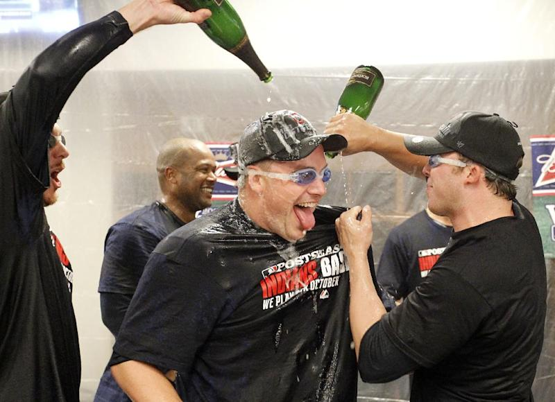 Indians celebrate unlikely playoff appearance