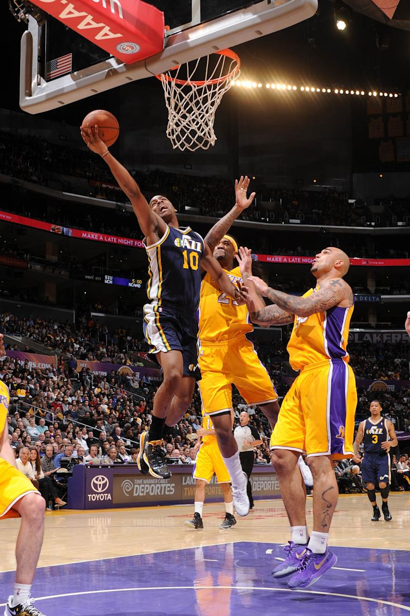 Burks leads Jazz to 96-79 win over Lakers