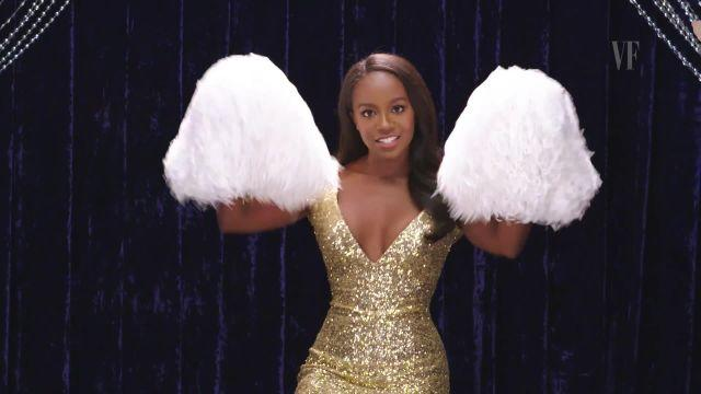 Aja Naomi King shows you how to pretend to be a cheerleader.