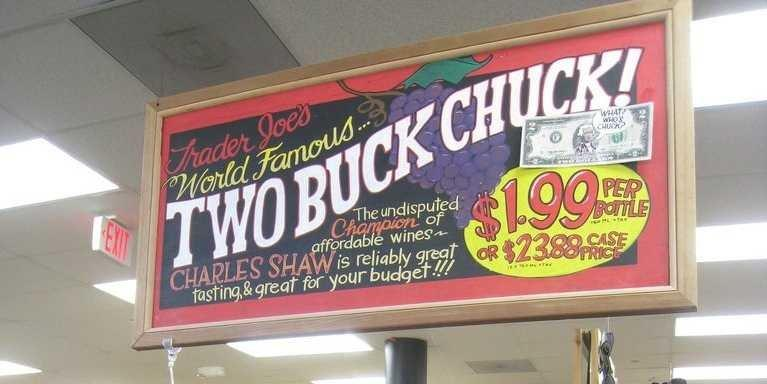 Trader Joe's two buck chuck wine