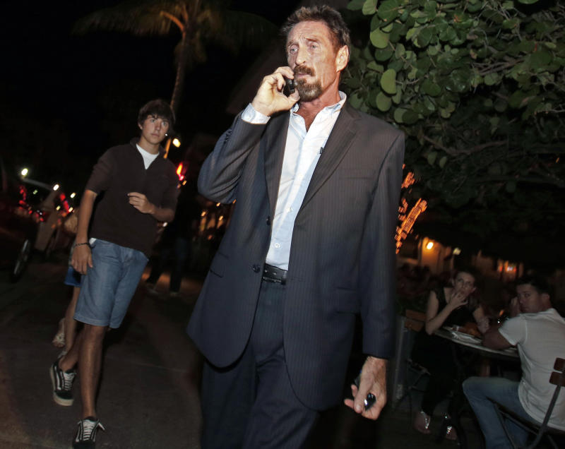 McAfee in Miami after deportation from Guatemala