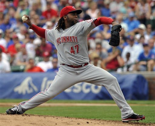 Cueto pitches 3-hit ball over 8 innings for Reds
