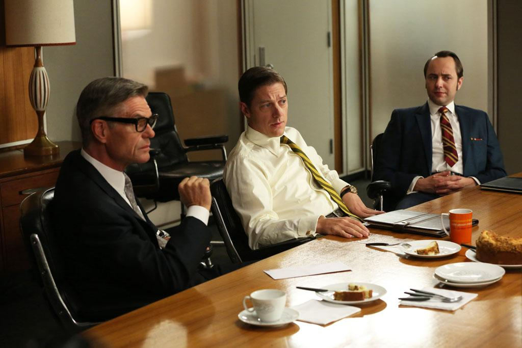 """Jim Cutler (Harry Hamlin), Ted Chaough (Kevin Rahm) and Pete Campbell (Vincent Kartheiser) in the """"Mad Men"""" episode, """"A Tale of Two Cities."""""""