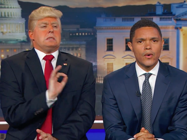 Trevor Noah interviews President 'Donald Trump'