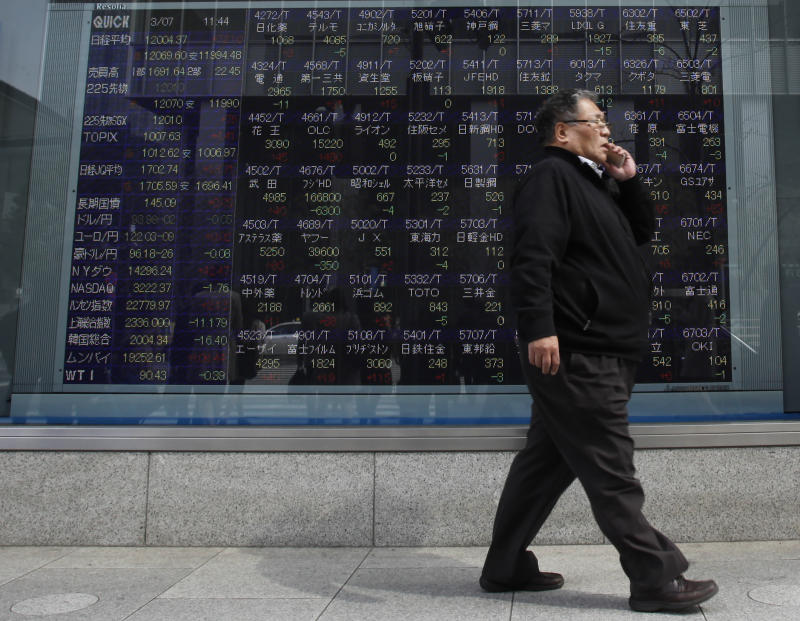 World markets mostly higher on Dow record