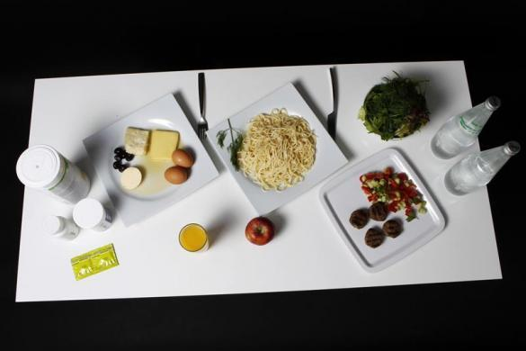 The daily food intake of Turkish Taekwondo fighter and Olympic hopeful Nur Tatar, 20, is pictured in Ankara May 24, 2012.