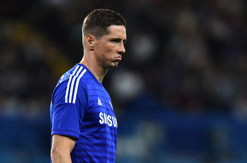 Chelsea's Spanish striker Fernando Torres gestures during the pre-season football friendly match between Chelsea and Real Sociedad at Stamford Bridge in London on August 12, 2014