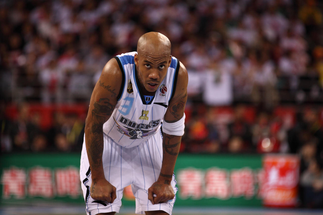 Stephon Marbury#3 of the Beijing Ducks during Game 5 the 2012 CBA Championship Finals against the Guangdong Southern Tigers at the MasterCard Center on March 30, 2012 in Beijing,China. (Photo by Gu Zhichao/Sports Illustrated China/Getty Images)