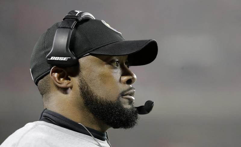 Mike Tomlin had some choice words following the Pittsburgh Steelers' win on Sunday. (AP)