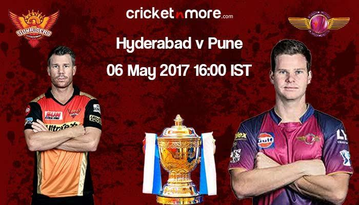 IPL 2017: Match 44: Hyderabad win toss, elect to field first