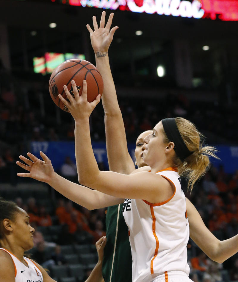 No. 14 Oklahoma State women top S Florida 75-56