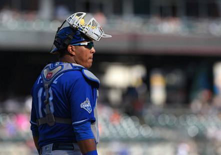 Royals catcher Perez set for test on knee injured in WBC