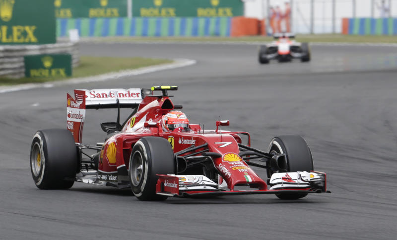 Ferrari gamble puts Raikkonen near back of grid