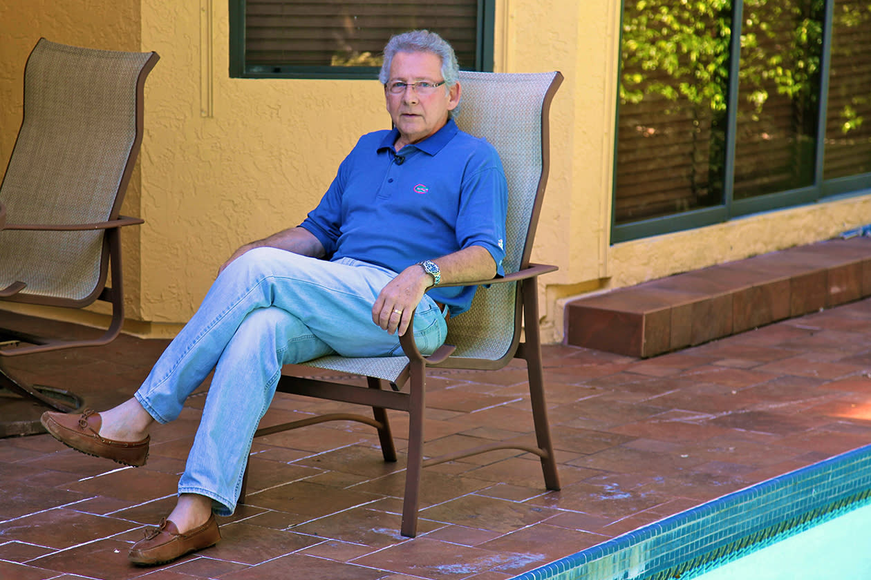 Jay Baker, 69, poses in his home in Boca Raton, Fla. Baker owns a flooring business whose revenue dropped after the housing bust. Recently, though, Baker has begun to enjoy a recovery. Polls consistently find that the economy is the top concern of voters, and Romney tends to get an edge over Obama when people are asked who might do better with it. Whether that truly drives how Americans vote is a crucial question for Election Day.
