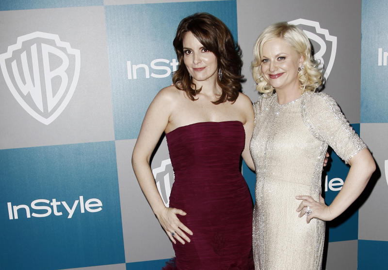 Tina Fey, Amy Poehler ready for Golden Globes show