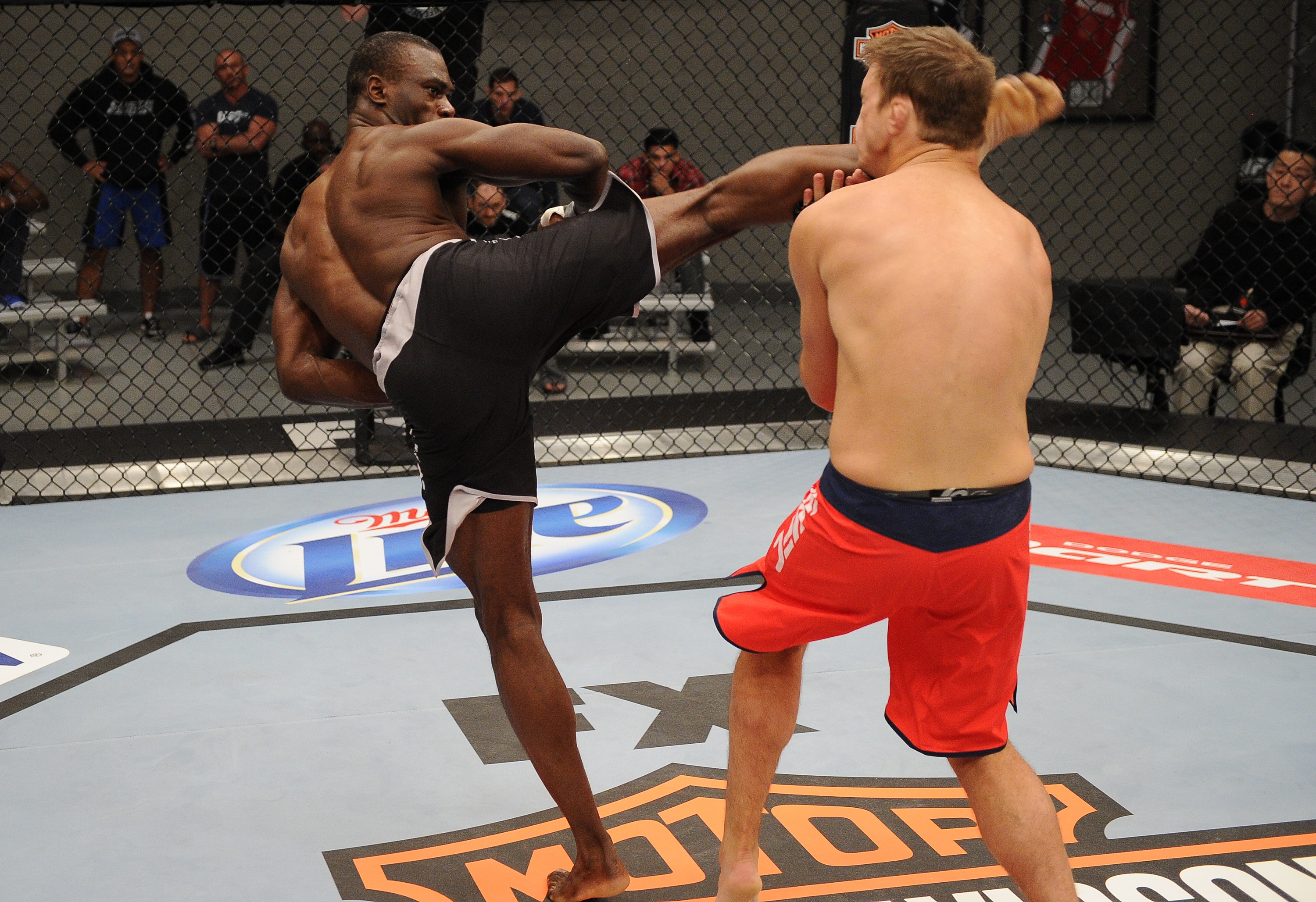 Uriah Hall feared for the safety of Adam Cella after his vicious KO. (Getty Images)