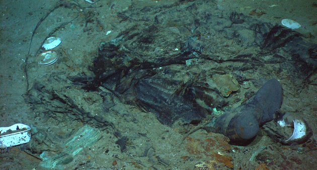 Titanic photo shows evidence of human remains