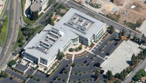 AOL's Palo Alto campus, as seen using Google Maps. (Credit: Screenshot by CNET)