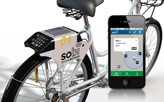 SoBi Social Bicycles with app