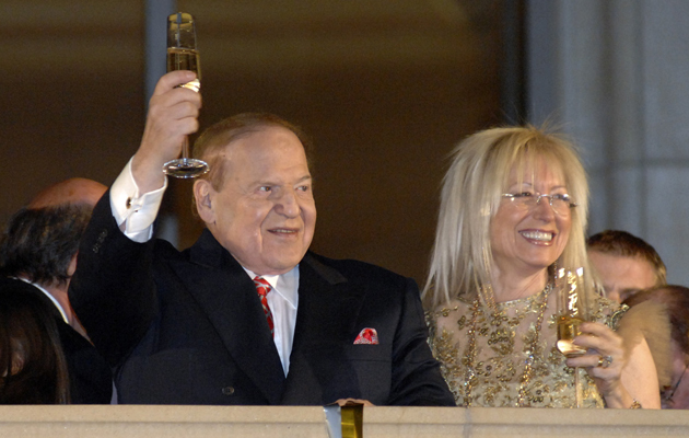 Sheldon Adelson and his wife Dr. Miriam Adelson (AP Photo/Las Vegas News Bureau, Glenn Pinkerton)