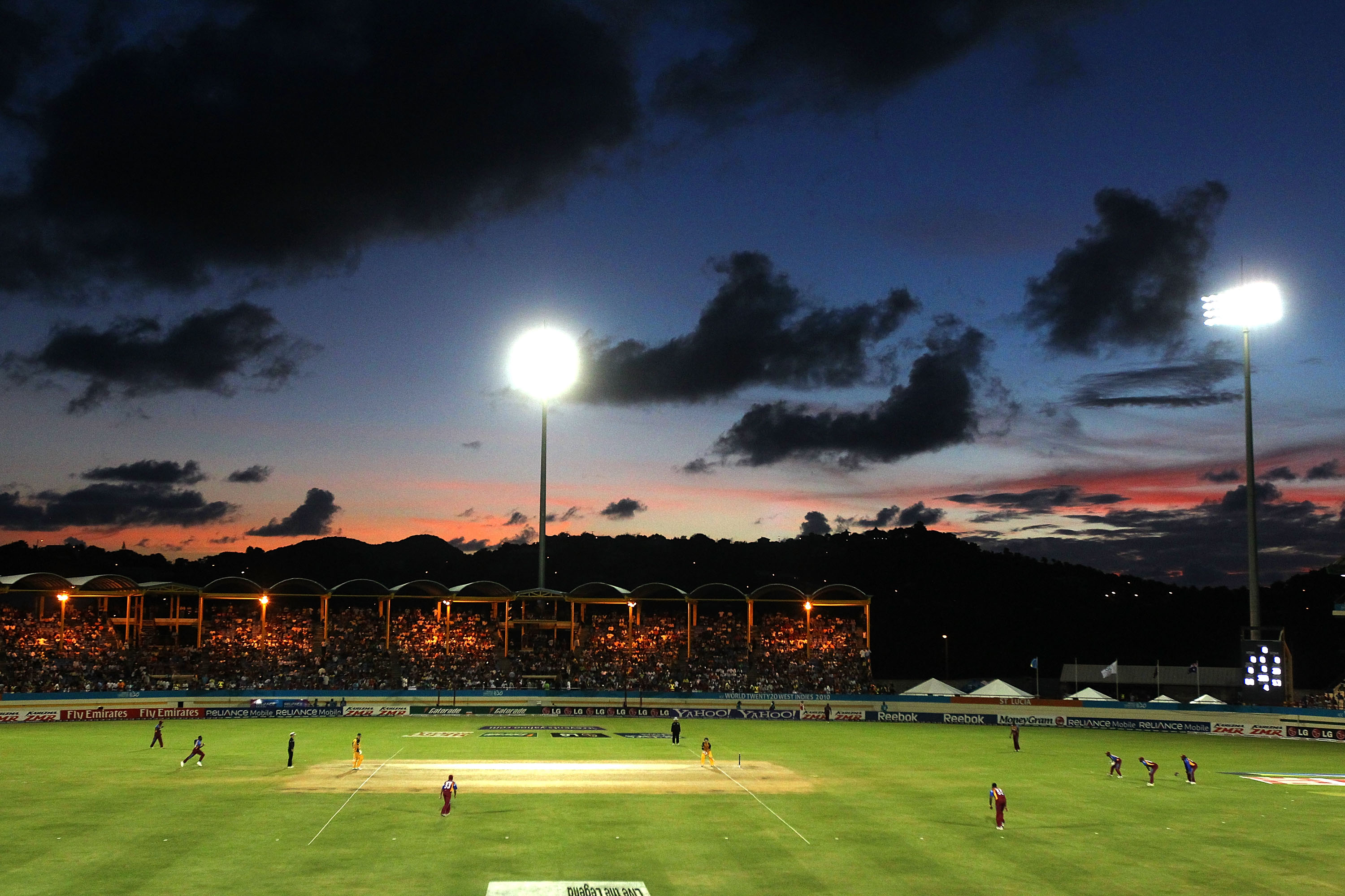 A general view of play during a match between West Indies and Australia. (Getty Images)
