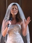 Bride sings
