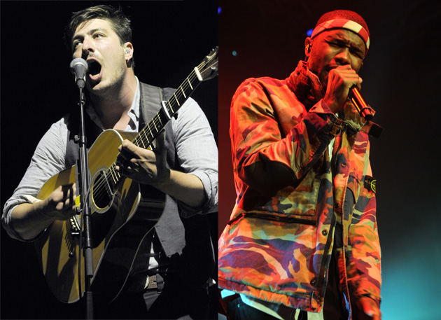 Mumford and Sons' Marcus Mumford and Frank Ocean