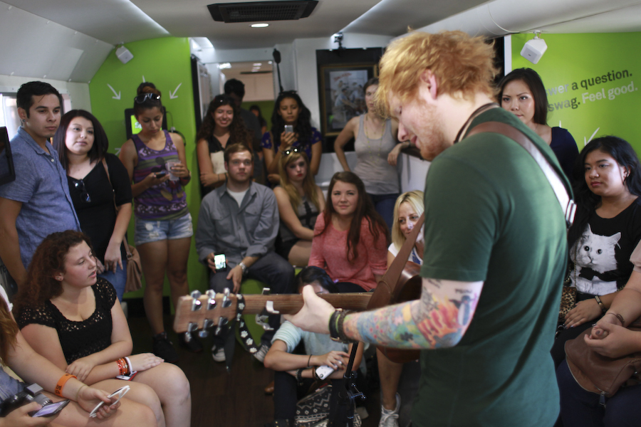 Spotify Session: Ed Sheeran Performs 'The A Team' With Spotify On Tour