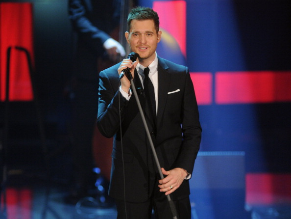 MILAN, ITALY - NOVEMBER 26: Michael Buble performs at 'Che Tempo Che Fa' Italian TV Show on November 26, 2012 in Milan, Italy.