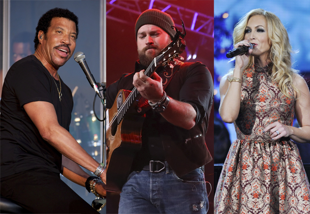 Lionel Richie, Zac Brown, Kimberly Schlapman of Little Big Town (Photos: Scott Legato/Getty Images, Neilson Barnard/Getty Images, Katherine Bomboy-Thornton/ABC via Getty Images)