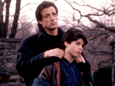 Sylvester Stallone and Sage Stallone in 'Rocky V' (Photo: Everett Collection)