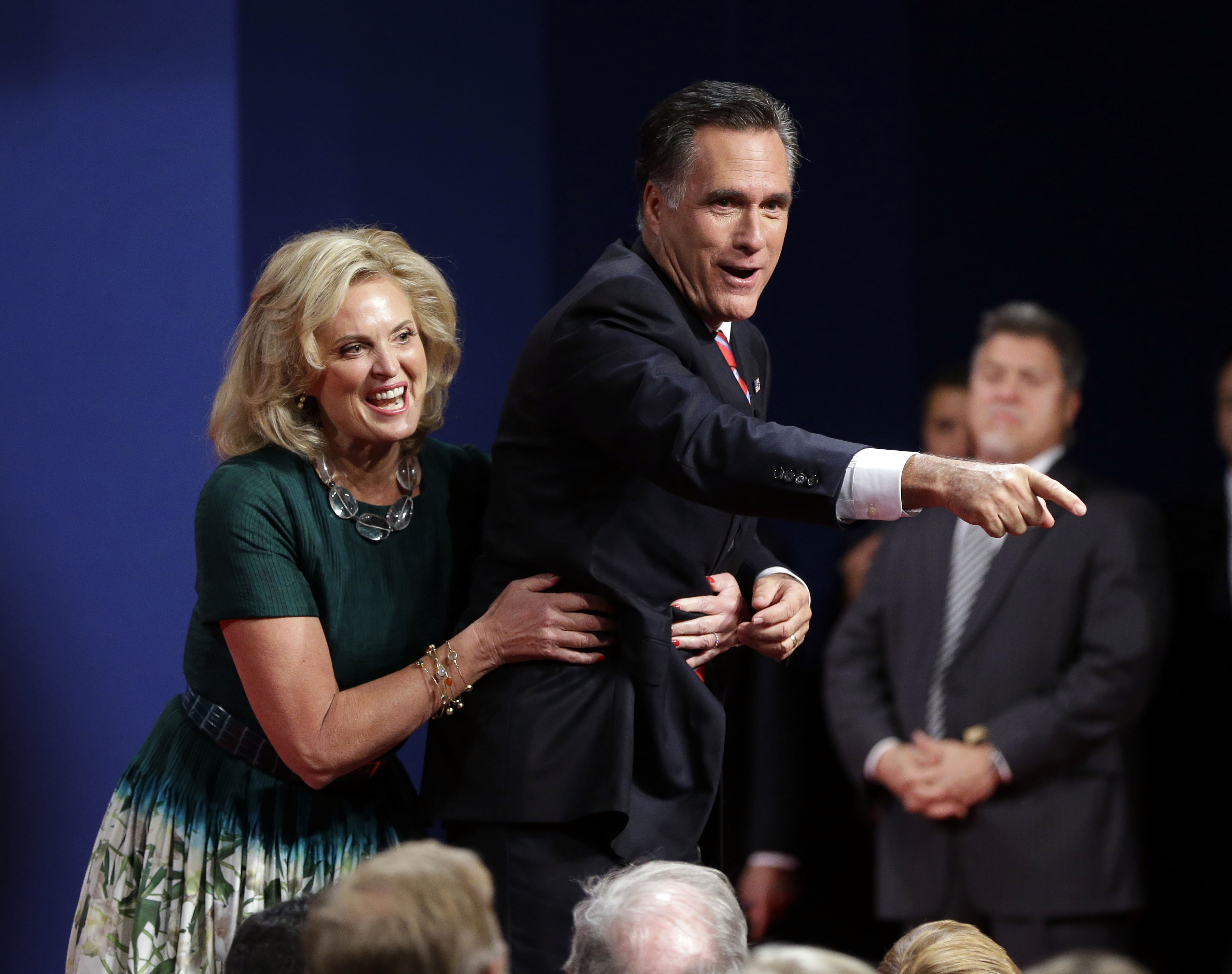 Romney, pictured after the third presidential debate, is neck-and-neck with Obama in the US polls (PA)