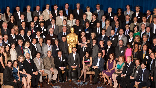 "The 2012 ""class photo"" of every Oscar nominee taken during last year's luncheon (Photo: AMPAS)"
