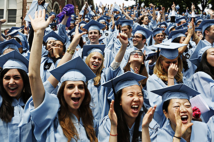 Columbia graduation ceremony (Michael Rubenstein for U.S. News & World Report)