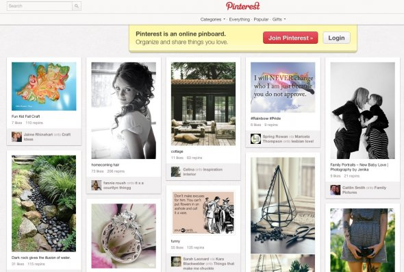 Pinterest screencap