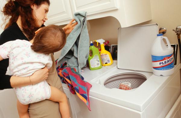 Women cleaning men's room