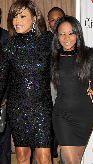 Whitney and Bobbi Kristina. (WireImage)
