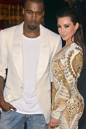 Kanye and Kim. (Mike Marsland/WireImage)