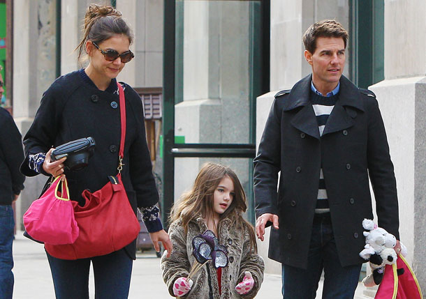 Holmes and Cruise out with Suri in NYC last winter (Tom Meinelt-Jason Winslow/Splash)