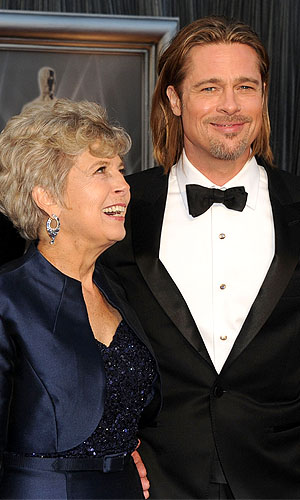 Brad with his mom Jane. (Getty Images)
