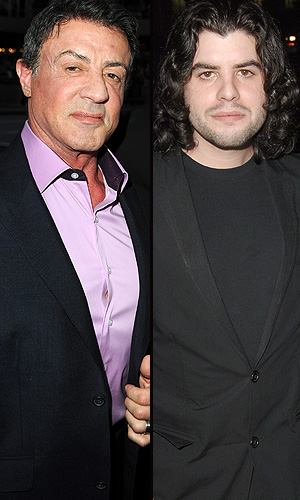 Sly and Sage Stallone. (WireImage)