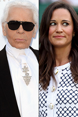 Lagerfeld and Middleton. (WireImage)
