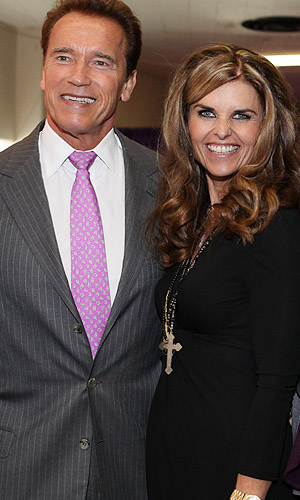 Arnold and Maria. (WireImage)