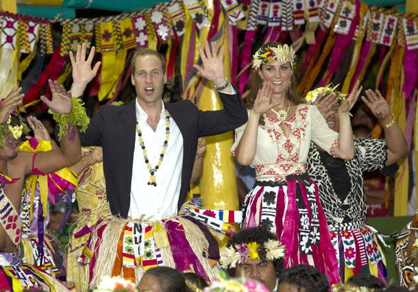 Prince William and Kate Middleton in Tuvalu on September 18 (Getty Images)
