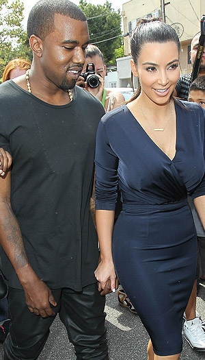 Kanye and Kim. (Splash News)