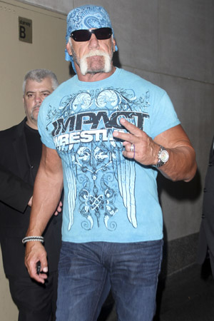 Hulk Hogan on Tuesday. (Splash News)