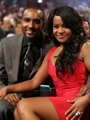 Nick and Bobbi Kristina. (Christopher Polk/WireImage)