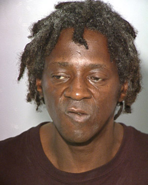 Flav's mug shot. (Getty)